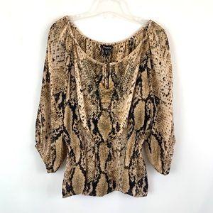Bebe Python snake print blouse